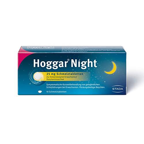 Hoggar Night – Schlaftabletten zur Hilfe beim Einschlafen und bei akuten Schlafstörungen – Gut verträglich, für erholsamen Schlaf – 1 x 10 Schmelztabletten