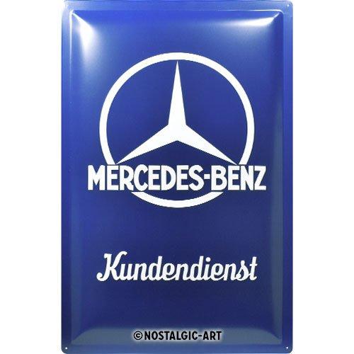 Nostalgic-Art retro plåtskylt – Mercedes-Benz – kundtjänst, vintage presentidé för Mercedes tillbehörsfantaster, för dekoration, 40 x 60 cm