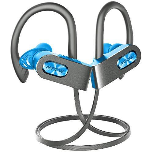 Mpow FLAME2 Bluetooth Headphones Sport, 12Hrs & Bluetooth 5.0 Wireless Sport Earphones, IPX7 Waterproof Bluetooth Headset W/CVC 6.0 Noise Cancelling Mic, Bluetooth Earphones w/Comfort-Slanting, Green