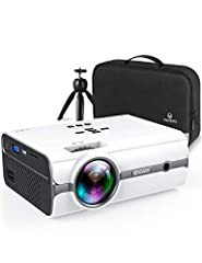 [FULL HD 1080P SUPPORTED] VANKYO LEISURE 410 performs incredible images with Full HD 1080P supported. The 2020 UPGRADE portable projector runs bright, razor-sharp images, ensuring your fantastic watching experience. [LARGE SCREEN FOR ENTERTAINMENT] V...