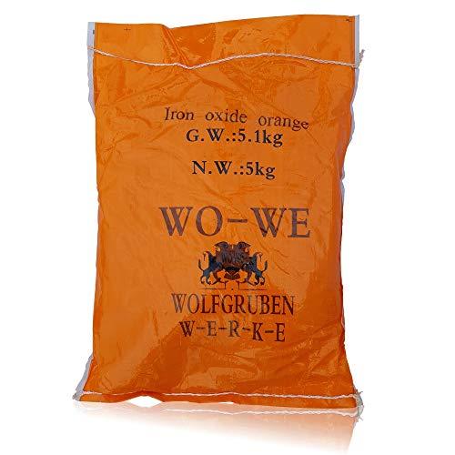 Preisvergleich Produktbild Eisenoxid Pulver Pigmentpulver für Betonfarbe Lehm Keramik W120 Orange - 25KG (5x5Kg)