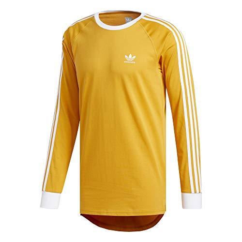 adidas California 2.0 Camiseta de manga larga Mujer Amarillo, XS