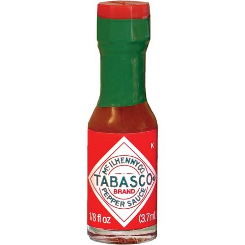 TABASCO Brand Original Red Sauce Miniature Bottles - Case of 500 Bottles - 1/8 Ounce Bottle - Mini Hot Sauce Bottles