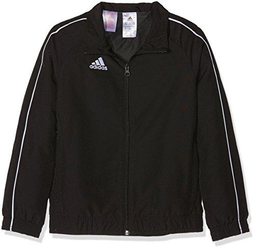 adidas Kinder CORE18 PRE JKTY Sport Jacket, Black/White, 7-8Y