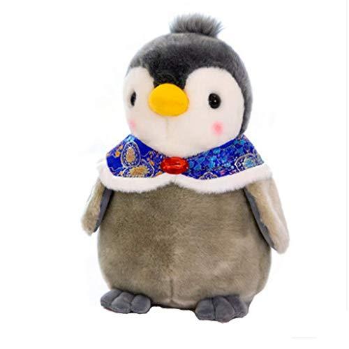 blue whale 0009 Peluche poupée Pingouin, Petite poupée Pingouin, Cadeau de Noël pour Enfant 20 cm Manteau Bleu