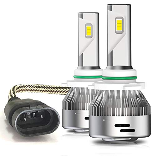 LASFIT 9012 LED Headlight Bulbs Bright 72W 7600LM 6000K LED Bulbs, Plug&Play (2PCS)