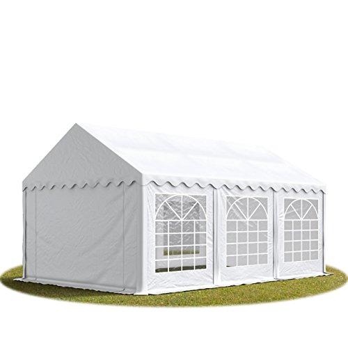 TOOLPORT Tendone per Feste 4x6 m - ignifugo PVC Bianco 100% Impermeabile Gazebo da Giardino Tendone da Esterno Tenda Party