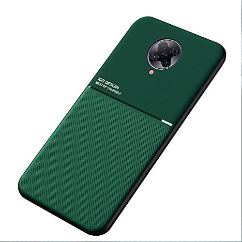 Kepuch Mowen Hülle Hüllen Hülle Eingebaute Metallplatte für Xiaomi Redmi K30 Pro/Poco F2 Pro - Grün