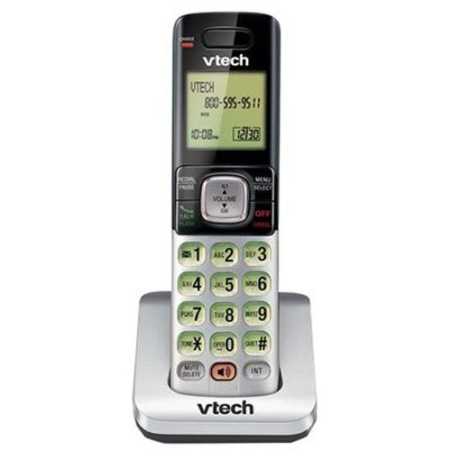 VTech CS6709 Accessory Cordless Handset, Silver/Black | Requires VTech CS6719, CS6729, CS6829, or CS6859 Series Phone System to Operate