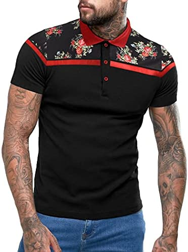 Floral polo shirts