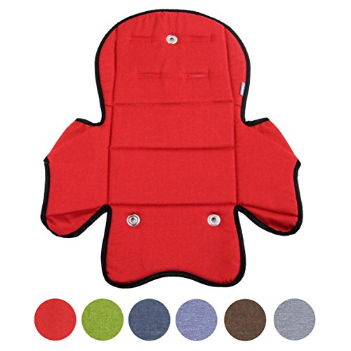 BambiniWelt24 BAMBINIWELT Ersatzbezug, Sitzkissen, Bezug für Fahrradsitz, Modell RÖMER Jockey (Modell 5, meliert) (rot meliert) XX