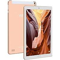 4G Tablet 10 Pulgadas YESTEL X2, 3GB+32GB, Android 8.1, Tableta (con Funda ) 4 Core, 8000mAh, 1280X800 HD IPS, Soporte WiFi/Dobles SIM, FM, Type-C, Dorado