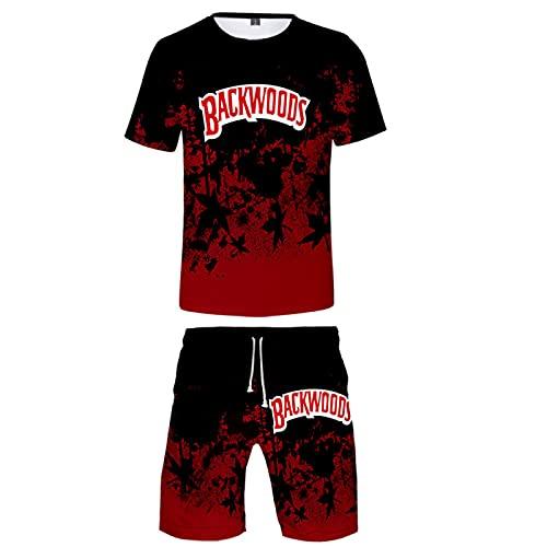 EMPERSTAR Conjuntos De Camisetas Y Pantalones Cortos para Hombre Impresos En 3D Conjunto De Traje Deportivo De CháNdal Corto Conjunto Traje XXL