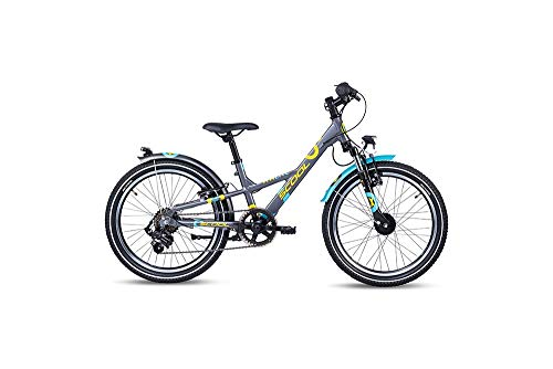 S'cool XXlite Alloy 20 7-S Kinderfahrrad Kinderrad Darkgrey/Mint 6265