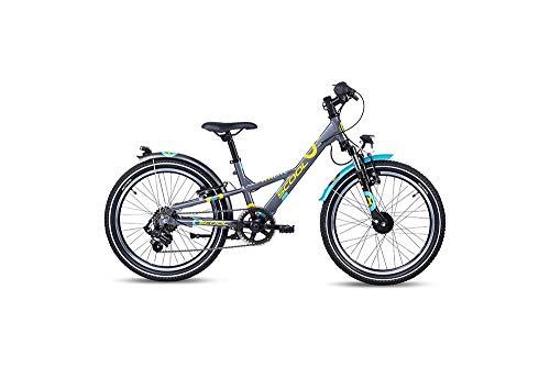S'cool XXlite Alloy 20 7-S Kinderfahrrad Kinderrad Darkgrey/Mint 6265
