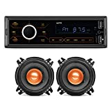 myTVS MP-T1 Touch Screen Single Din Car Stereo Media MP3 Music Player System with Dual USB Bluetooth...