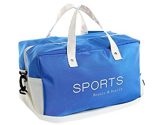 Moolecole Trocken Nass Getrennt Badetasche Wasserdicht Sport Sporttasche Schwimmaufbewahrungstasche Blau