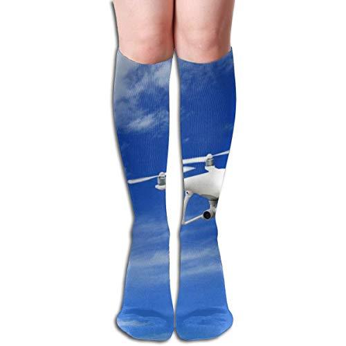 Sheho Calcetines de compresión de 19,68 pulgadas UAV Flight Sky High Boots Medias de manguera larga para caminar de yoga para mujeres y hombres