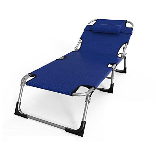 QFFL Lounge Chair Single Lounge Chair Pliable Portable Bureau Lit Ménage Adulte Multifonctionnel Lit Pliant Tabouret d'extérieur (Couleur : A)