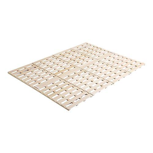 桐のすのこベッド すのこマット ダブル 4つ折り 折り畳み 四つ折り 木製 湿気対策 スノコ オールシーズン使えるすのこベッド 梅雨や冬の時期にも 省スペース フロアベッド ローベッド