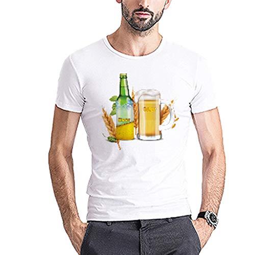 Herren Sommer Herbst T-Shirts O Ausschnitt Sport Tees Oktoberfest Bedruckt Polyester Baumwolle Trikot Workwear Gym Laufbekleidung Bodybuilding Polohemd Top (EU:36, E)