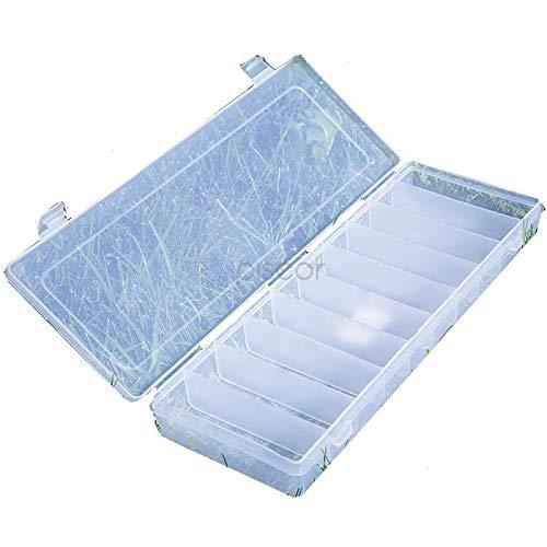 Lineaeffe Boîte Poly 2 35.5 x 14 x 4 cm Boîte de Pêche Rangement Accessoire Leurre Hameçon Compartiment Plastique
