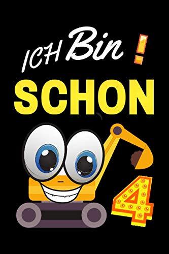 ICH BIN SCHON 4: Malbuchtiere von 2 bis 9 Jahren für Jungen und Mädchen 120 Seiten(Buntstifte) Erster Schultag (schulstart) Eintrittsbuch für die Einschulung von Mädchen und Jungen