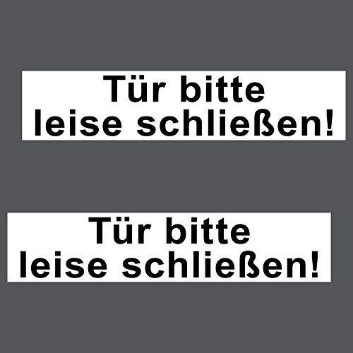 2 Aufkleber 20cm Sticker Tür Bitte Leise Schließen Wand Haustür Praxis Schild