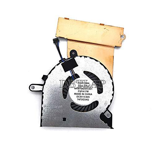 DBTLAP Nuevo Ventilador para HP Omen 15-CE 15-CE000 15-CE010CA 15-CE020CA 15-CE030CA 15-CE051NR Portátil CPU Ventilador 929455-001 NFB74A05H-001