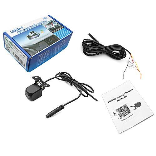 PolarLander 12V WiFi Caméra de recul Caméra Star Night Vision Caméra de recul Vue arrière du Corps Mini Tachographe étanche à l'eau pour iPhone et Android
