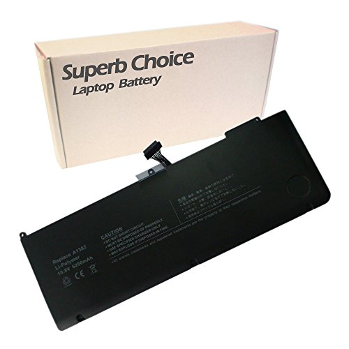 Superb Choice Battery Compatible with Unibody MacBook Pro 15 inch A1382 A1286 (for Core i7 Early 2011 Late 2011 Mid 2012).