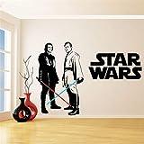 Aufkleber Star Wars Vinyl Wandaufkleber Für Kinderzimmer Dekoration Obi Wan Kenobi & Anakin Skywalker Lichtschwert Wandtattoo Schlafzimmer Dekor