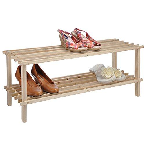 Schuhregal aus Holz mit zwei Böden