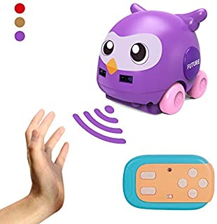 YunFan Toy Cars for Toddlers, Baby car Toys with Music, 2.4GHZ Automatic Tracking Radio Control Mini car Toy for Kids, Early Educational Children Toys Gift (Purple)