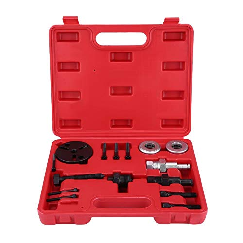 WYJW Kit de instalación/extracción del Embrague del compresor del Aire Acondicionado, 15 Piezas Herramienta de Aire Acondicionado Extractor de Embrague Extractor instalador para automóvil con e