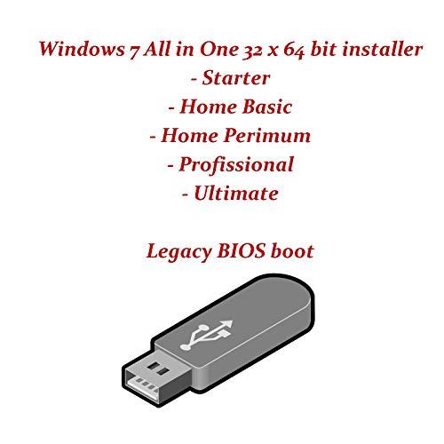 Windows 7 all Home Premium, Basic, Professional 32bit and 64bit Legacy Bios Boot Installer