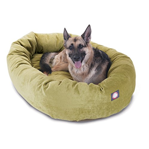 52 inch Apple Villa Collection Micro Velvet Bagel Dog Bed By Majestic Pet Products