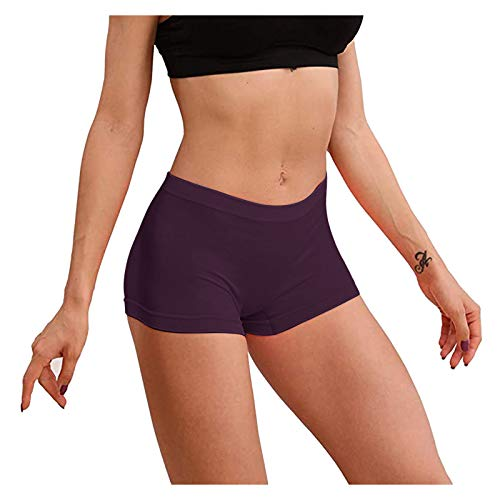 Women Underwear Cotton Plain Knickers,Basic Ladies Briefs Multipack Soft Stretch Panties, Pack of 5