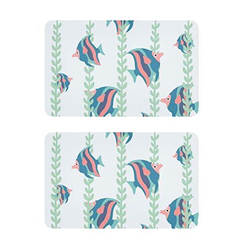 Imanes de nevera con diseño de peces divertidos para nevera, etiquetas decorativas, 2 unidades