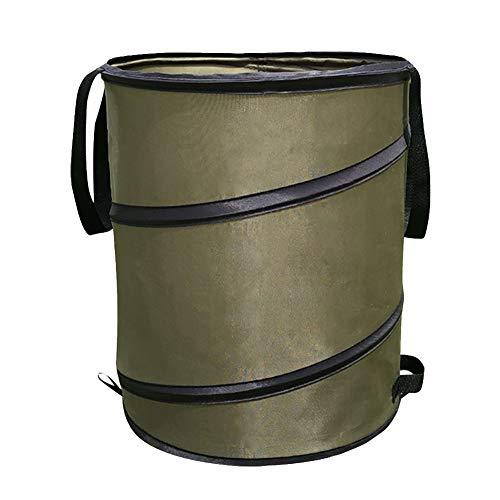 Maifa Gartensack – Garten-Zubehör, Pop-Up-Mülleimer, tragbar, 30 Liter, mit Schnalle, zusammenklappbarer Behälter, Blatt-Mülleimer