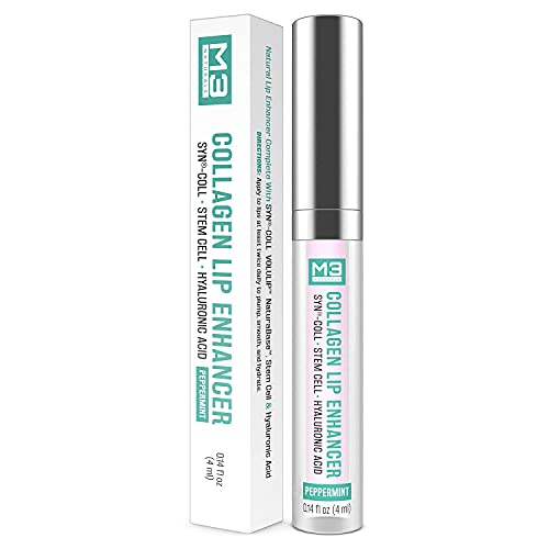 M3 Naturals Collagen Lip Enhancer with Hyaluronic Acid and Stem Cell...