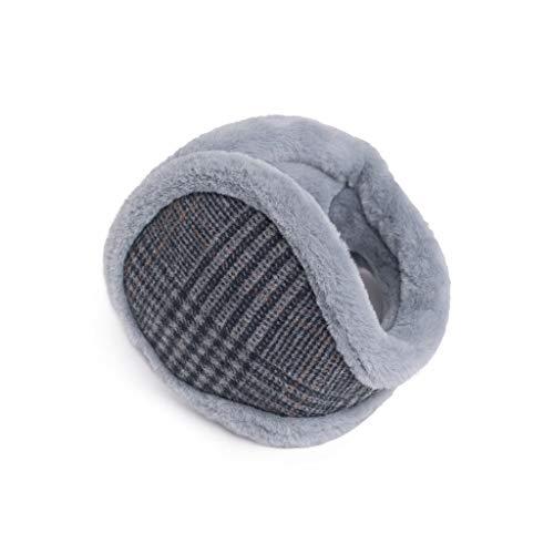 ZJ Warm halten Earmuffs Warm Earmuffs Earmuffs Mann-Winter Earmuffs Frauen im Freien Earmuffs Warm warm (Color : Gray)