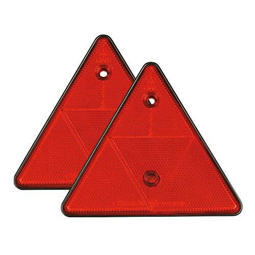 Lampa 20542 Euro-Norm Catarifrangenti triangolari - 150x130 mm - Rosso