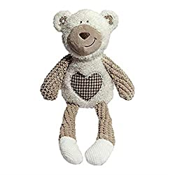 Comfort Dog toy which is perfect for cuddle or play time Made with quality plush materials Includes a squeaker inside Multi textured Great quality fun Dog toy