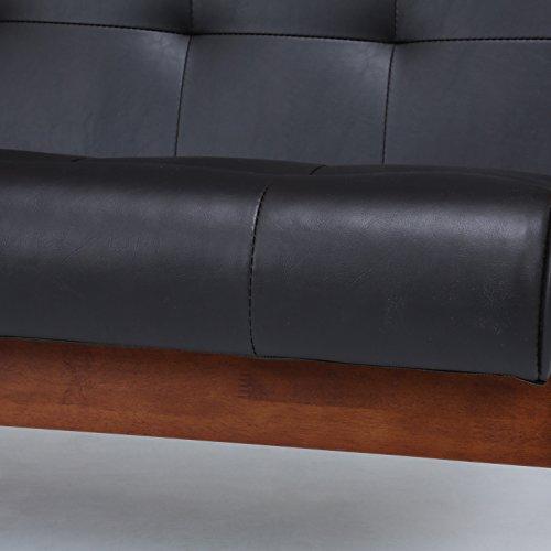 不二貿易ソファ1人掛け幅65cmダークブラウン合皮フレンズ71156