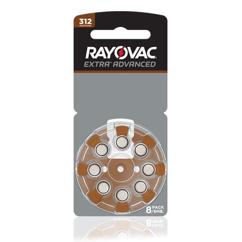 Rayovac Size 312 Extra Advanced Mercury Free Hearing Aid Batteries (80 Batteries)