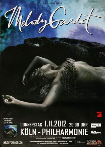 Melody Gardot - The Absence, Köln 2012 » Konzertplakat/Premium Poster | Live Konzert Veranstaltung | DIN A1 «