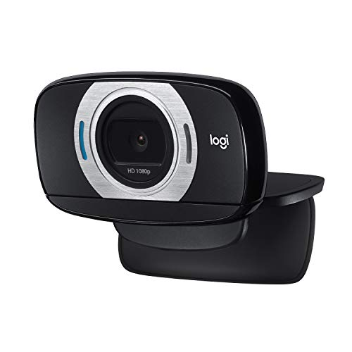 Logitech C615 Webcam Portátil, Full HD 1080p/30ims, Video-Llamadas en Pantalla Panorámica, Plegable, Corrección HD, Enfoque Automático, Skype, FaceTime, Hangouts, PC/Mac/Portátil/Macbook/Tablet