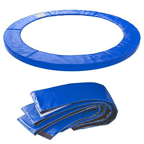 Kinetic Sports Randabdeckung Ersatzteil für Gartentrampolin mit ca. Ø 335 cm | Breite 28cm | UV beständig | reißfest | Ersatz Rahmenpolster Schutzpolster | 15 mm EPE-Schaumstoff | blau