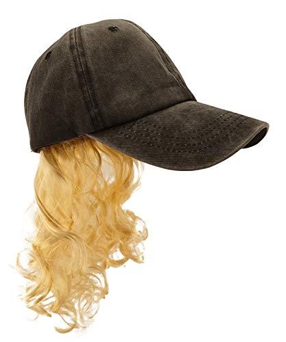 Sombrero Negro de Cosplay Extico con Collar de Pendientes de Clip de Peluca Rubia Y Bigote